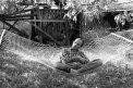 Fotografia: Sedím si v sieti a je mi dobre..., fotograf: Matej Budzel, tagy: hojdacia sieť